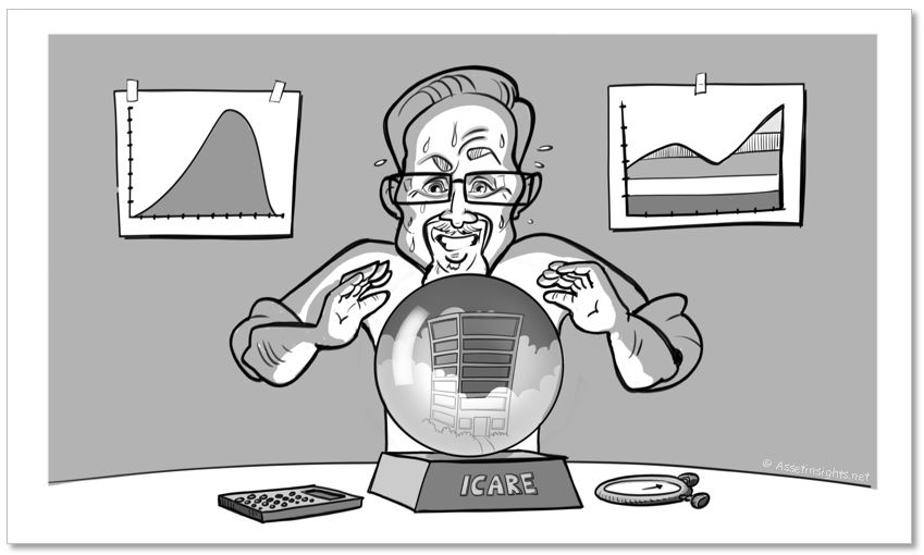I. Care is trying to use a crystal ball to make forecasts about his assets