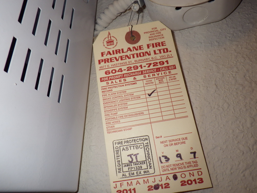 service tag on emergency lighting