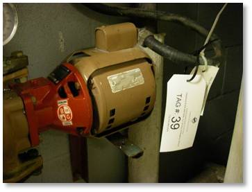 Identification tag on pump
